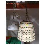 2 vintage Lite Bright hanging swag Lamps ,