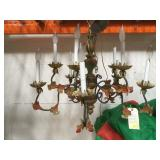 Hanging vintage country chandelier