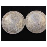 2- 1972 1/2 oz. Silver Olympiad coins, 2 x $