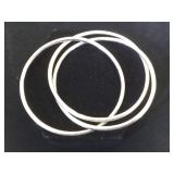 3- Sterling entertwined bangle bracelets , 27.5g