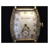 Vintage Bulova  watch w/ Crocodile band