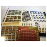 Assortment of unused stamps, $55.00 face value