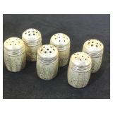 3- pairs of Sterling Salt/ pepper shakers,