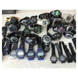 Digital  & Sport Watches- Large Lot