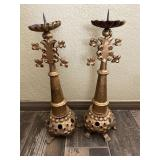 One Of A Kind Steam Punk Candle Holders