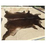Brown Cow Hide Approx. 88 X 73