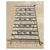 Native American Woven Rug Approx. 62 X 29