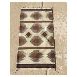 Native American Woven Rug Approx. 36 X 19