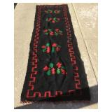 Native American Woven Rug Approx. 91 X 29.5
