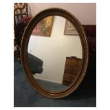 Vtg. Gold Framed Mirror