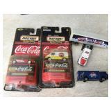 Vtg. Matchbox Coca-Cola Cars & More-Some NIP