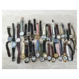 Leather Strap Watches & More-Some Vintage