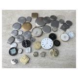Hampden Pocket Watch, Faces & Assorted Parts