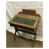 Antique wooden childs school desk