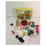 Sunshine family vintage doll and craft case