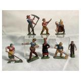 French Vintage Metal Handpainted figurines