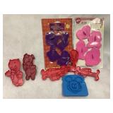 Disney/ Barbie cookie cutters & more
