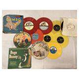 Vintage childrens records