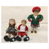 Vintage porcelain holiday dolls