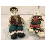 TLT porcelain Christmas bunny rabbit couple