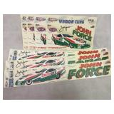 John Force NASCAR Window Clings NOS