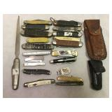 Vintage Assorted Pocket Knives and More