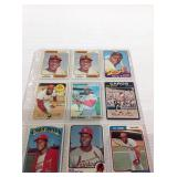 Vintage baseball cards with stars