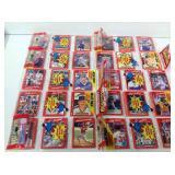 10 1990 donruss baseball rack packs