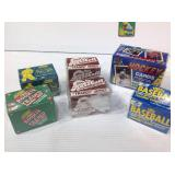Sealed boxes of sports cards