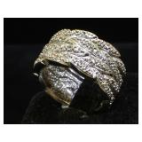 Sterling wide band ring, size 8.5