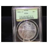 1884-CC Green Label. PCGS MS64  Morgan Silver