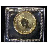 1/10 oz. .9999 Fine Gold Canadian $5 Maple Leaf