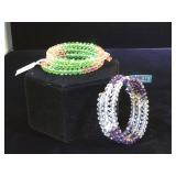 2- Gorgeous Glass Kalifano bracelets