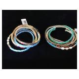 2- Long Strand Kalifano bracelets, w/ magnetic