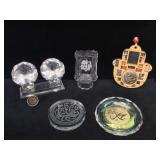 Jerusalem gemstone plaque, crystal & glass