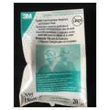 20 3M N95 respirator masks, masks in good shape,