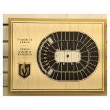 Wood Golden Knights Stadium plaque, size 17 x 13