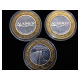 3- $10 Silver Strikes, 2- Aladdin, 1- Atlantis, 3
