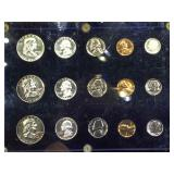 Plaque of 3- 1956  US Mint Silver Date Sets