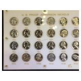 Plaque of US Proof Jefferson Nickels, 1950-1976,