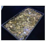 Large  assortment of wheat pennies