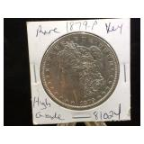 1879-P  Morgan Silver Dollar
