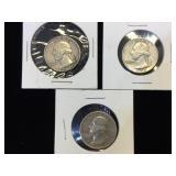 3- Silver Washington Quarters, 1954,1959 & 1962