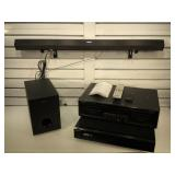 Sony 5 disc DVD player w/ remote, speaker & sound