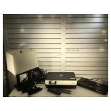 Samsung blue-ray player w/ remote, 3D glasses, HP