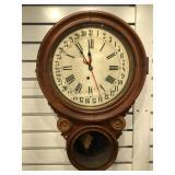 Vintage mechanical pendulum wall clock, no key