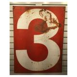 Vintage metal double sided sign 24 x 32