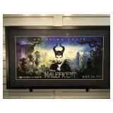 Framed & matted 2014 Disney Maleficent print,