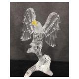 Swarovski crystal eagle in original box, stands 5