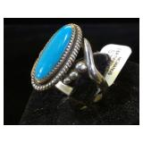 Sterling & Tur ring, size 9